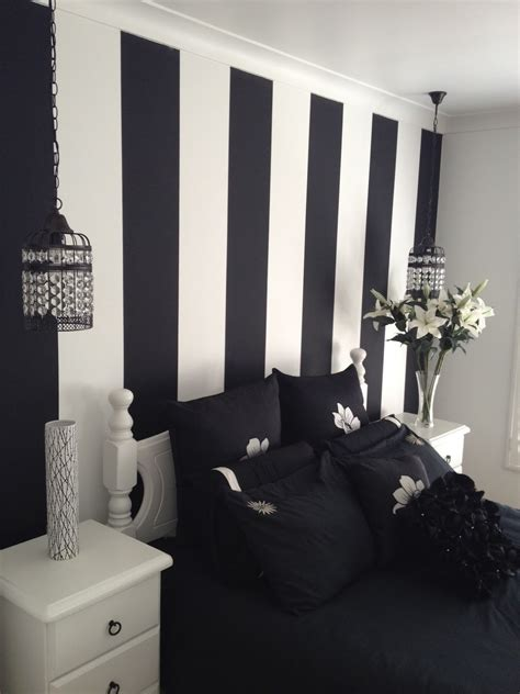 bedroom design bedroom great white and black striped wall