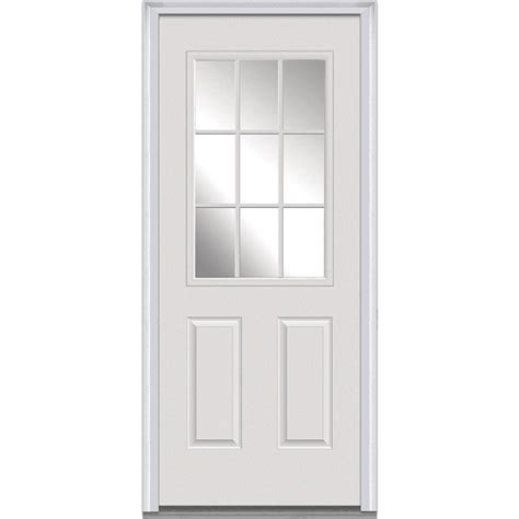 30 Exterior Door With Window Mmi Door 30 In X 80 In Clear Right 1 2 Lite 2 Panel Classic Primed Fiberglass Smooth