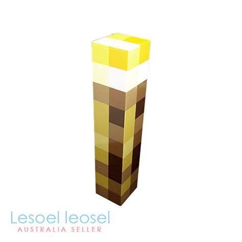 Minecraft Torch L by Minecraft Light Up Mountable Wall Torch L Gamer Gift Ebay