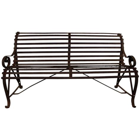 antique garden benches for sale antique 19th century forged strap iron garden bench for
