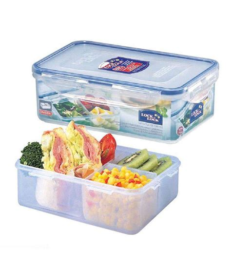 Promo Lock N Lock Container Tempat Makan Classic Gift Set lock lock classic polypropylene pp rectangular food container with divider buy at best