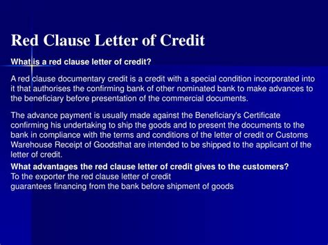 Letter Of Credit Clauses Ppt Buenas Practicas Empresariales Para El Desarrollo De Innovaciones En Los Servicios Al