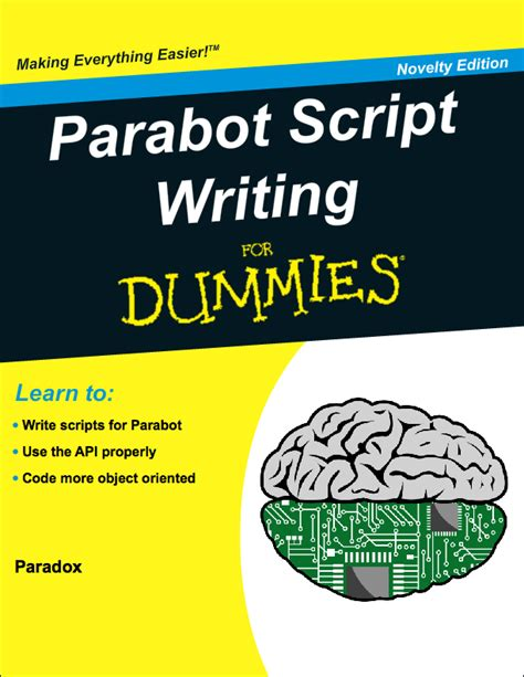How To Write An Essay For Dummies by Parabot Script Writing For Dummies Part 1 Tutorials Parabot