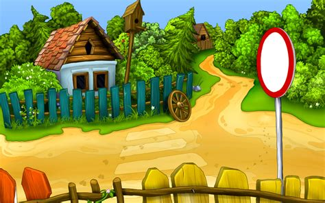 wallpaper cartoon school sunny day in a small village wallpaper 487922