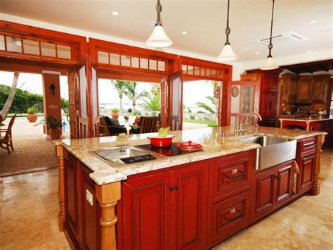 kitchen island red kitchen island styles colors pictures ideas from hgtv