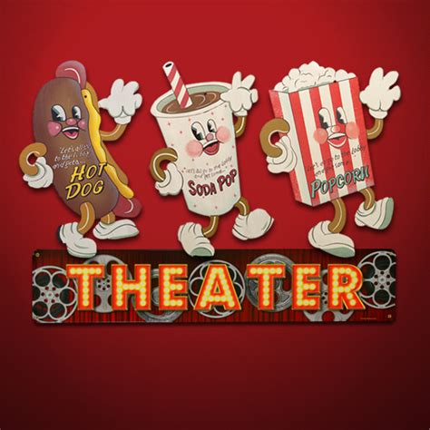 Movie Theatre Home Decor movie room decor dancing snacks signs
