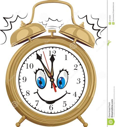 orologio clipart sveglia fronte di orologio sorridente illustrazione
