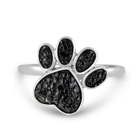 paw ring black paw ring crafted in solid sterling silver superjeweler
