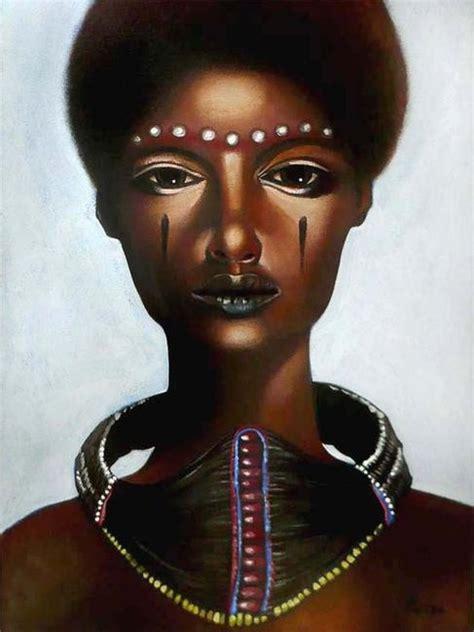 black queen art quot african queen quot by jason adamson make up design