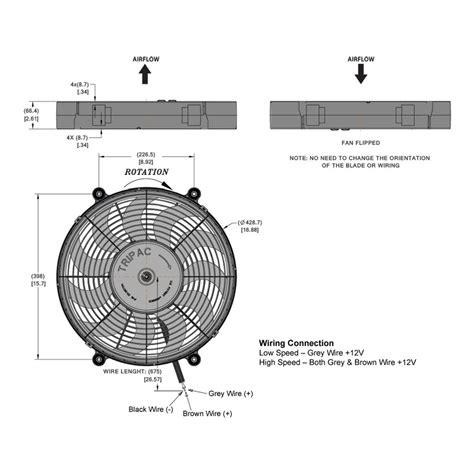 high flow radiator fan hi flow electric radiator fan 17 inch diameter from merlin