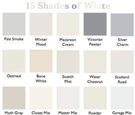 white color names 15 shades of white country design style