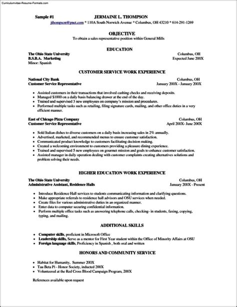 Resume Sle For Server by Server Resume Template Free Free Sles Exles Format Resume Curruculum Vitae Free