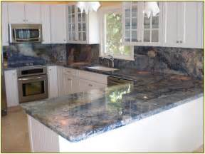 Modern Kitchen Tile Backsplash blue bahia granite countertops home design ideas