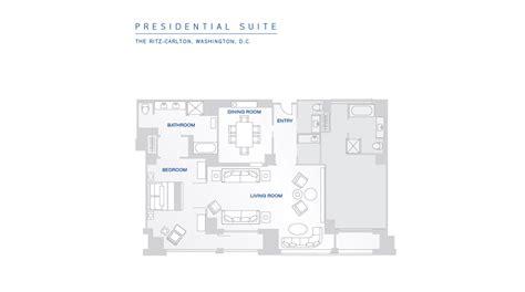 Washington Floor Plan | presidential suite in d c the ritz carlton washington