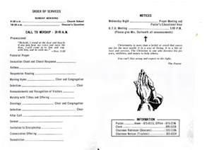 free church anniversary program template share on black