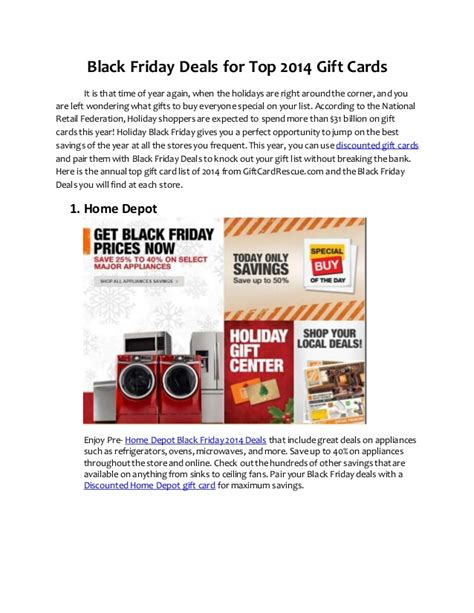 Gift Card Black Friday Deals - black friday deals for top 2014 gift cards
