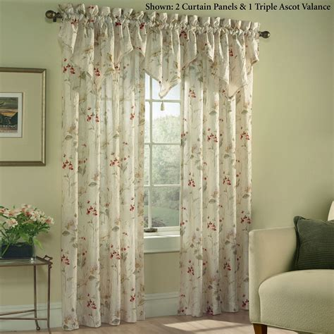 floral window curtains chantelle crinkle sheer voile floral window treatment