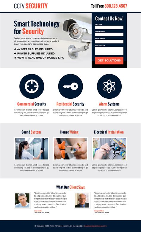 Security Lead Capture Landing Page 001 Security Landing Page Design Preview Free Lead Capture Page Templates