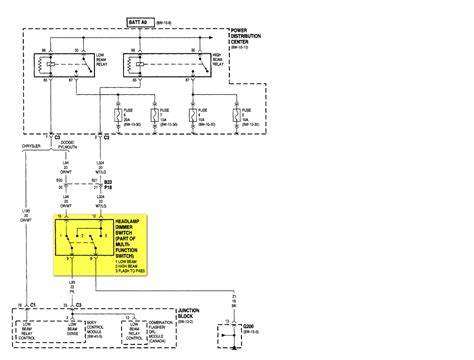 2000 dodge ram headlight switch wiring diagram somurich