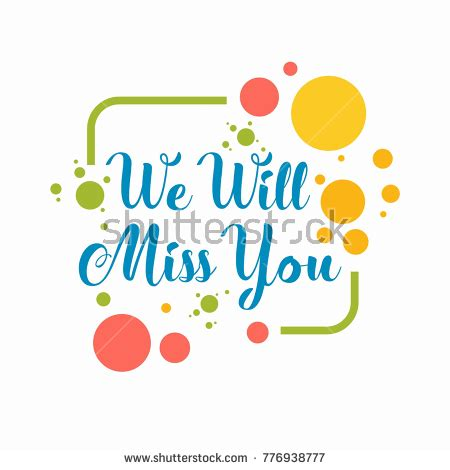 we will miss you card template farewell stock images royalty free images vectors