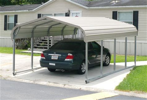 Aluminum Carport Installation 12 X 21 X 5 Standard Eco Friendly Steel Carport