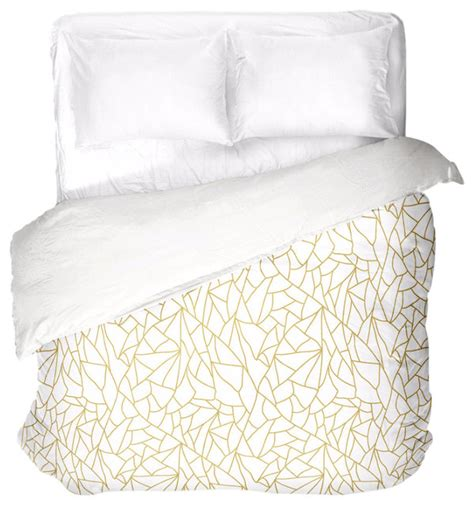 And White Duvet Cover Sets White Gold Abstract Duvet Cover Duvet Covers And Duvet