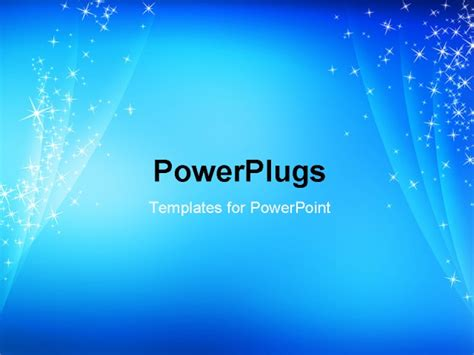 Powerpoint Template Abstract Simple Cool Blue Cool Powerpoint Title Slides