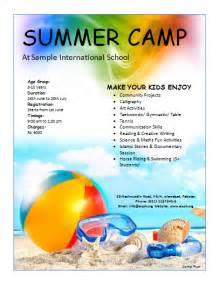 camp flyer template microsoft word templates
