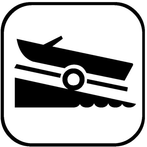 boat launch icon boat launch
