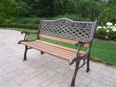 cast garden bench cast iron outdoor bench