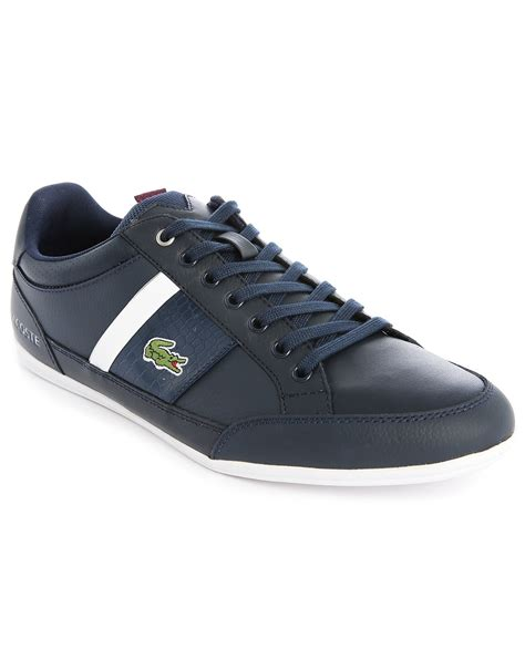 lacoste sneakers lacoste chaymon navy white low top sneakers in blue for