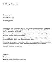 writing a cover letter for banking job - Cover Letter For Banking