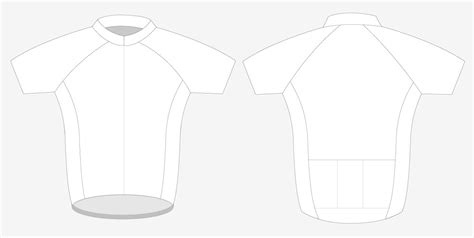 Blank Cycling Jersey Template Professional Templates For You Mtb Jersey Design Template