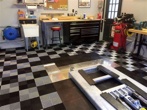 racedeck  flow  draining garage shop flooring