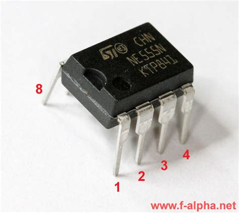 integrated circuit is used for f alpha net timer ne555