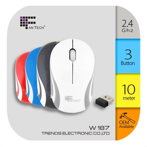 Illusion Wireless Optical Mouse W 187 New New Beetle Computermuis Fantech W187 Draadloze Optische