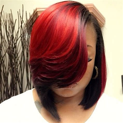 hair weave in bob cut pack fall color love this red natural hair love pinterest