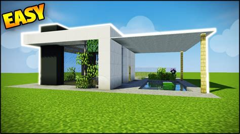 easy homes to build minecraft how to build a modern house easy tutorial