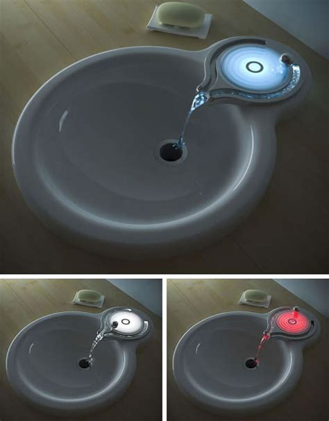 cool faucets bathroom furniture fashionthe touch 360 quot ripple quot sink and faucet