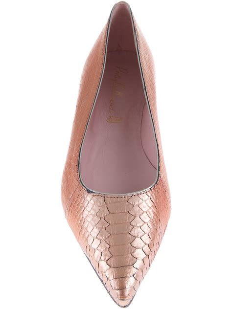 Top Five Pretty Flat Shoes At A Discount In The Schuh Summer Sale by Lyst Pretty Ballerinas Pointed Ballerina In Pink