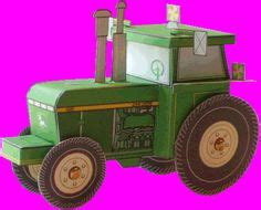 Tractor Origami - boxes bags bows tags on gift boxes wrapping