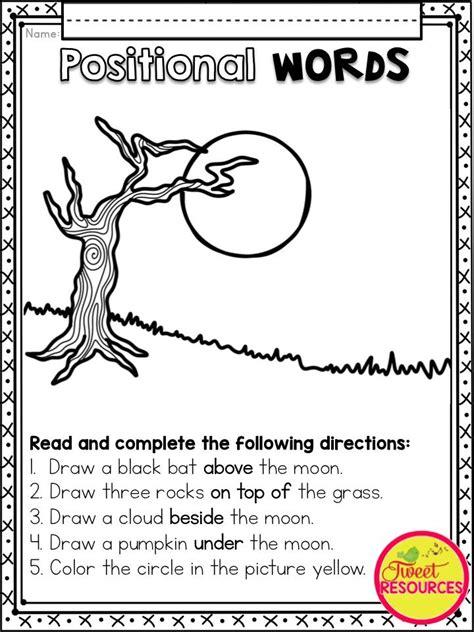 Preschool Positional Words Worksheets by Best 25 Positional Words Kindergarten Ideas On
