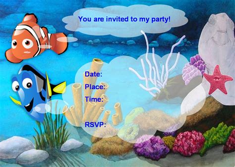 free finding nemo party ideas creative printables