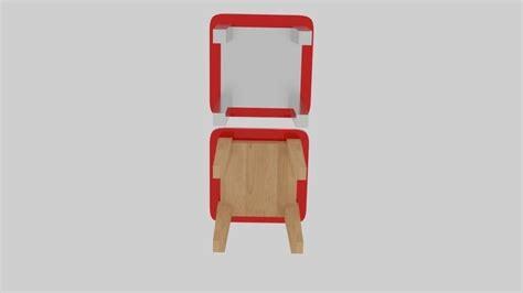 soft stool 3d model obj 3ds fbx blend dae mtl