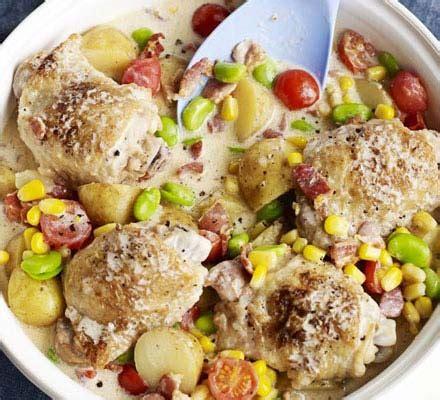 summer chicken one pot recipe bbc good food