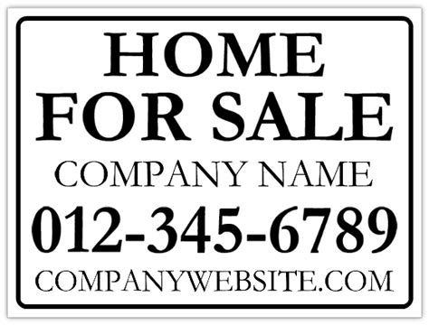 house for sale sign template home for sale sign real estate signs