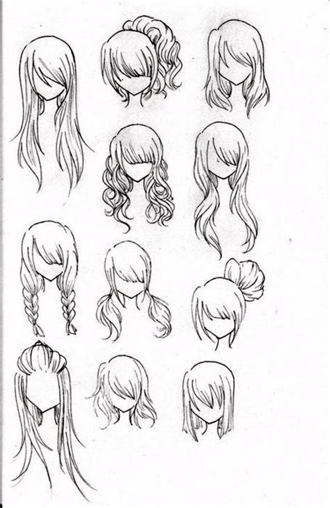 hairstyles for long hair drawing drawing of different types of long hairstyles hair