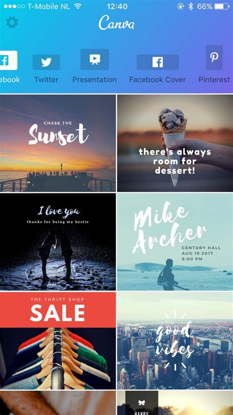 Canva App Download | canva voor iphone maakt mooie prints voor social media