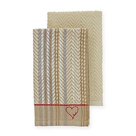 ellen degeneres kitchen buy ed ellen degeneres kitchen towels in khaki set of 2