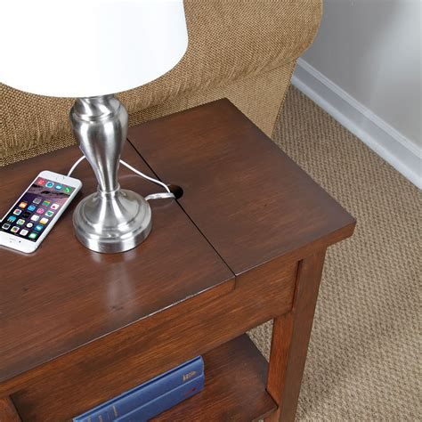 charging station table end table with charging station kbdphoto